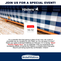 Join Brickell Mattress for Heart Healthy Happy Hour