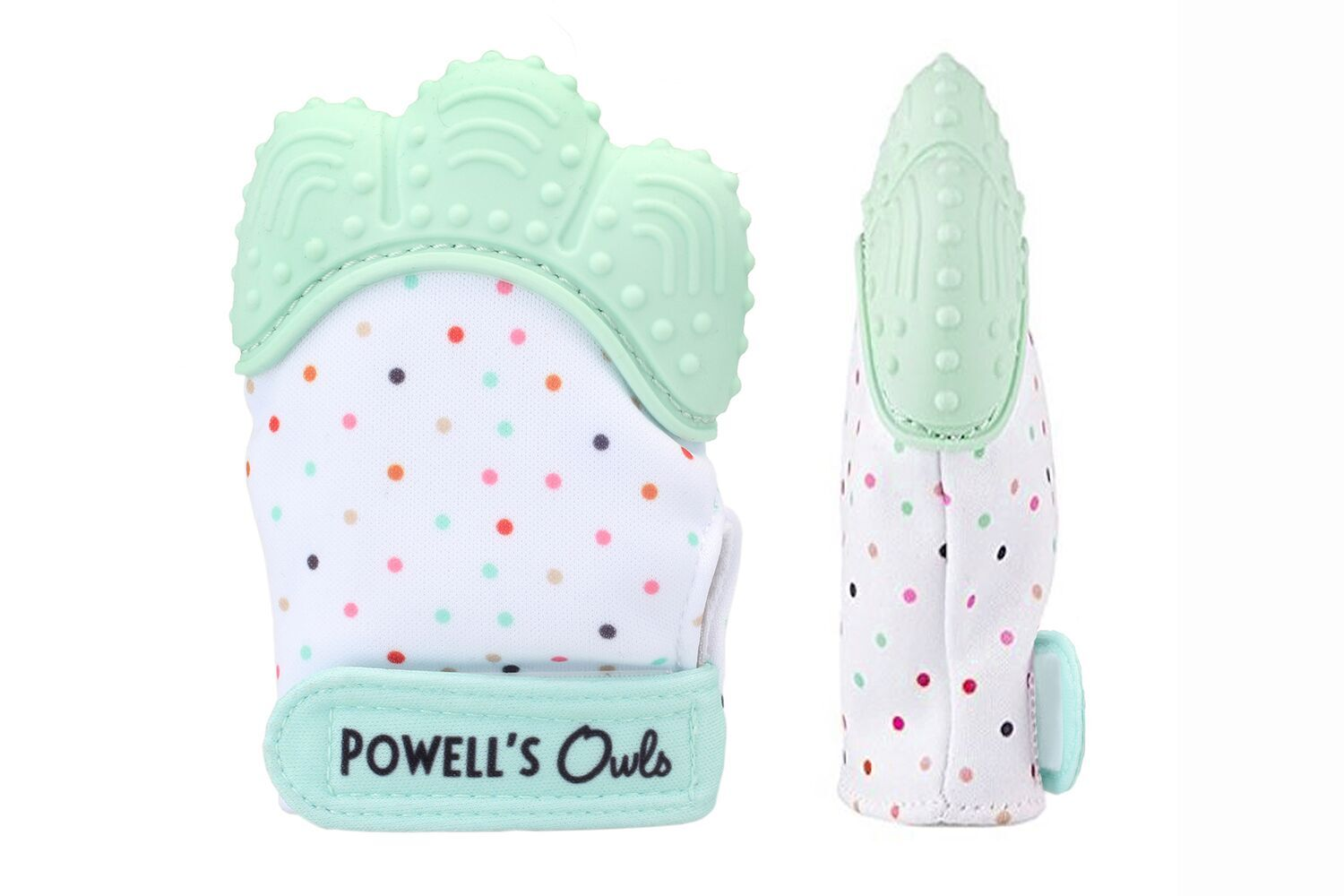 Powell's Owls Baby Teething Mitten