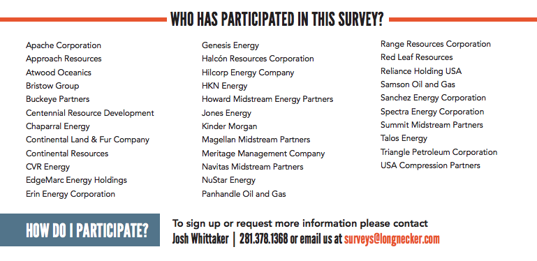 New Longnecker Energy Pay Pulse Survey Participants 2017
