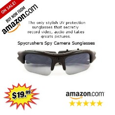 0380739066 SpyCrushers Spy Camera Sunglasses Gets Rave Reviews on Amazon