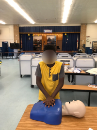 Pre-Teen Learns CPR during Disaster Preparedness Training