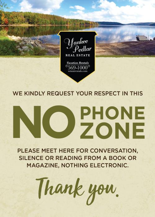 No Phone Zone Card'