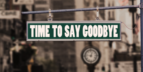 Time to say goodbye'