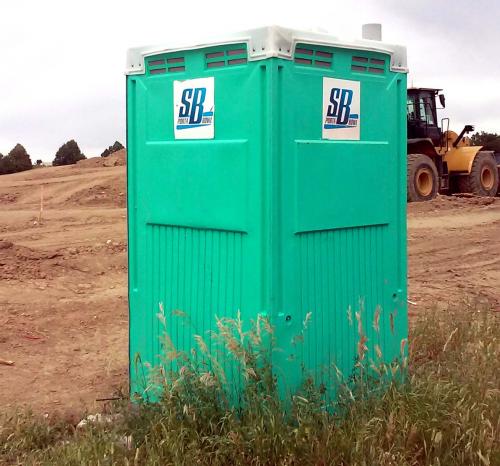 Construction site portable toilets'