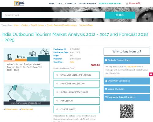 India Outbound Tourism Market Analysis 2012 - 2017'