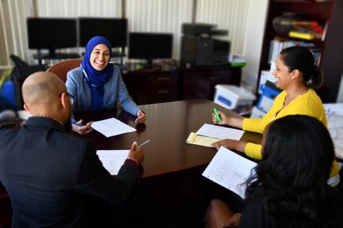 Celerity CEO Nadia Shaiq with Celerity Staff'