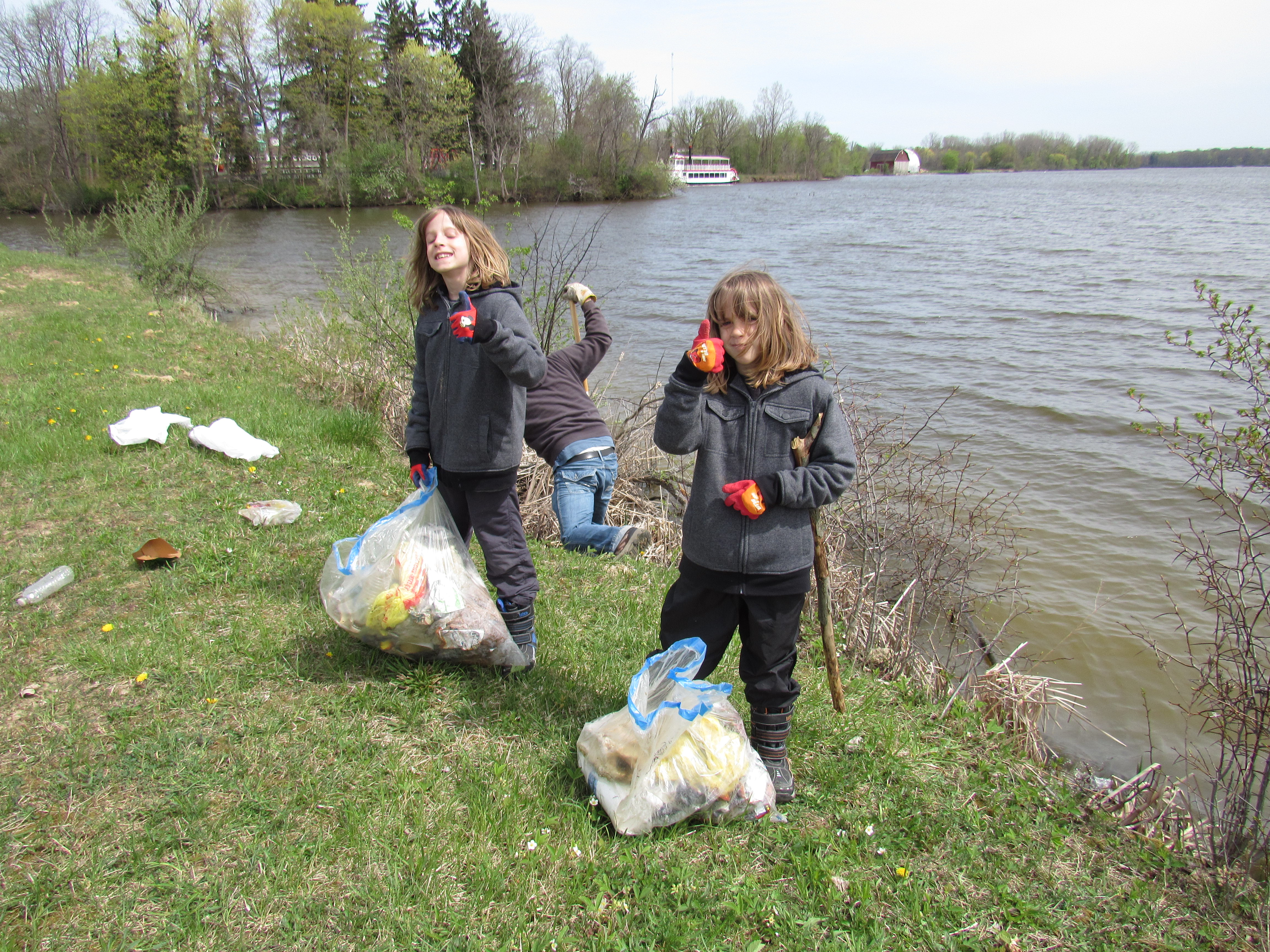 ISF Youth Logan and Jaxon participating in Flints Cleanup