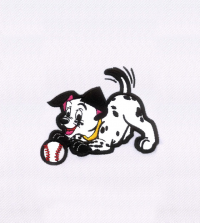 Dalmatians Playful Puppy Applique Embroidery Design Logo