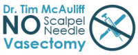 Dr. Tim McAuliff - No Scalpel, No Needle Vasectomy Logo