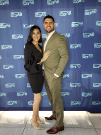 Nicole Garcia, Enjifit Founder and CEO and boyfriend.