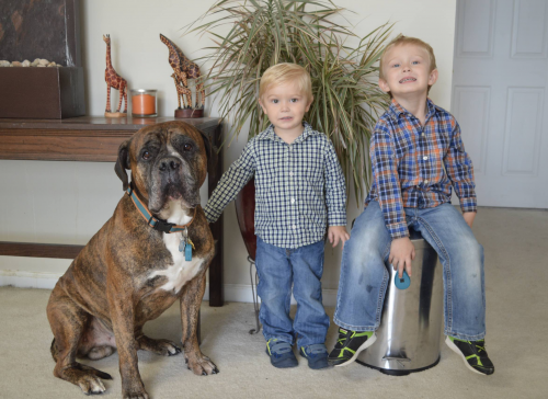 Dozer and Vasold boys - the inventors of Purrfect Pup'