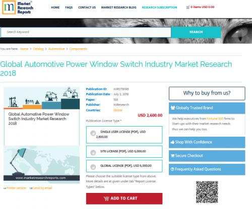 Global Automotive Power Window Switch Industry Market Resear'