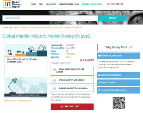 Global Marble Industry Market Research 2018'