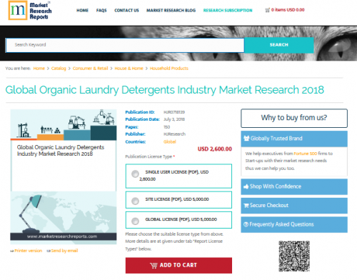 Global Organic Laundry Detergents Industry Market Research'