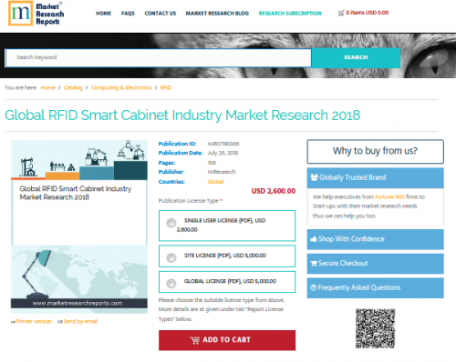 Global RFID Smart Cabinet Industry Market Research 2018'
