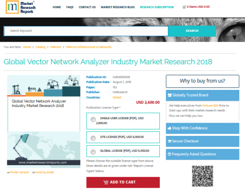 Global Vector Network Analyzer Industry Market Research 2018'