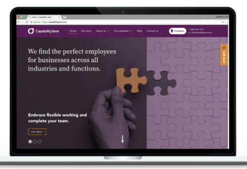 Capability Jane's new website'