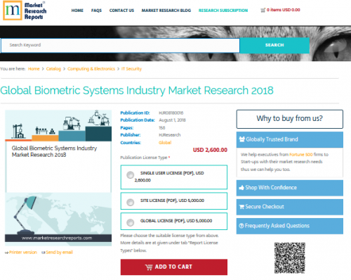 Global Biometric Systems Industry Market Research 2018'