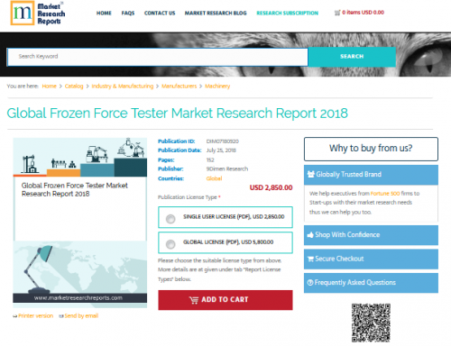 Global Frozen Force Tester Market Research Report 2018'
