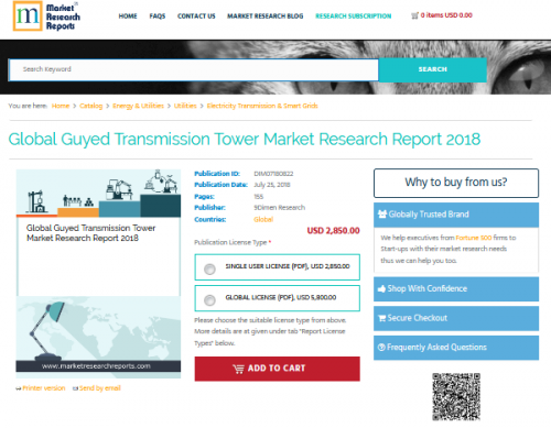 Global Guyed Transmission Tower Market Research Report 2018'