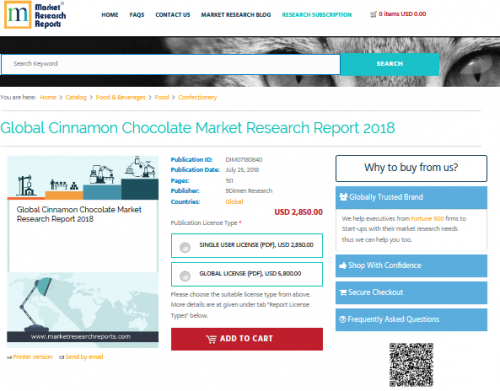 Global Cinnamon Chocolate Market Research Report 2018'