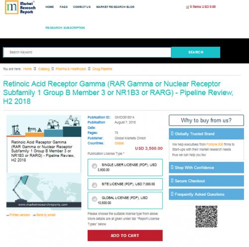 Retinoic Acid Receptor Gamma (RAR Gamma or Nuclear Receptor'