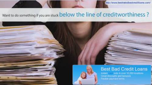 Online Loans For Bad Credit'
