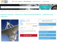 Solomon Islands - Telecoms, Mobile and Broadband