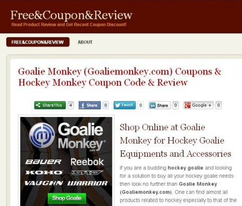 Goalie Monkey Review'