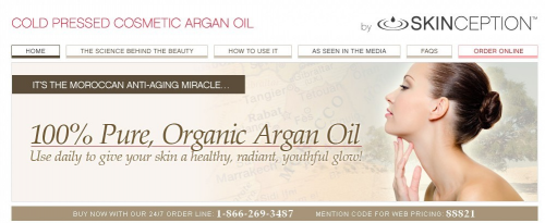 Skinception Argan Oil review'