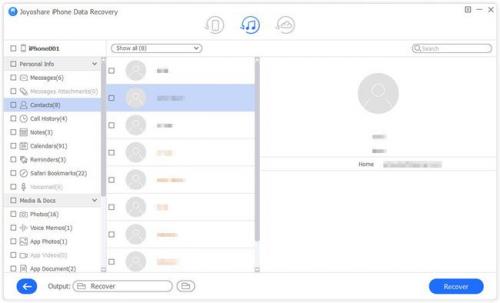 Joyoshare iPhone Data Recovery Screenshot 04'