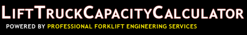 Lift Truck Capacity Calculator'