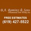B.A. Ramirez & Sons Ornamental Iron Works, Inc