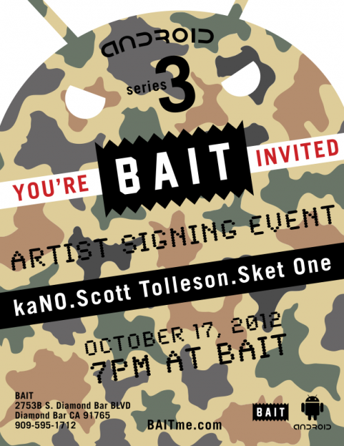 Android Series 3 Signing Event at BAIT'
