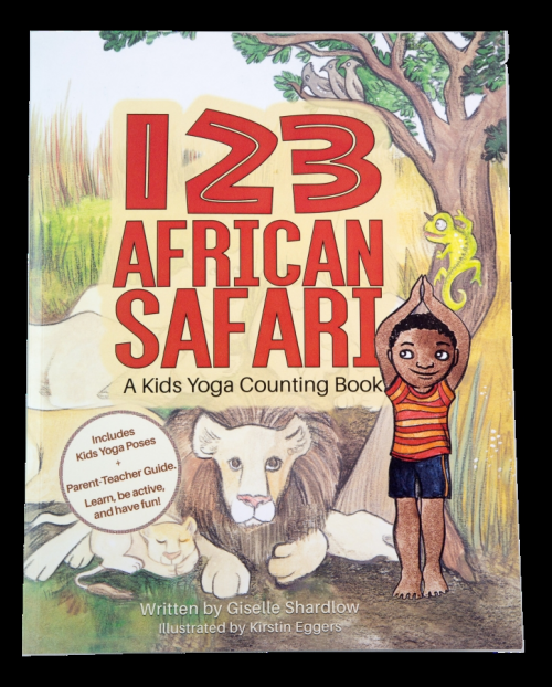 123-african-safari-yoga-book cover'