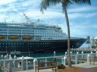 Cruise ship Disney Magic in Key West, FL by Amy L. Hamilton.