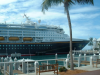 The Disney Magic cruise ship docked in Key West, Florida'