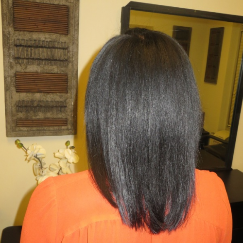 Protective Style Removable Weave Back View'