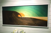 Sunset Peak Wood Wall Sculpture