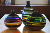 Hand Blown Glass Vases