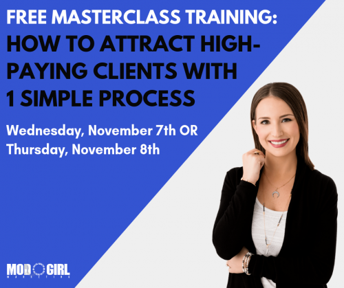 Free Masterclass on Attracting High-Paying Clients'
