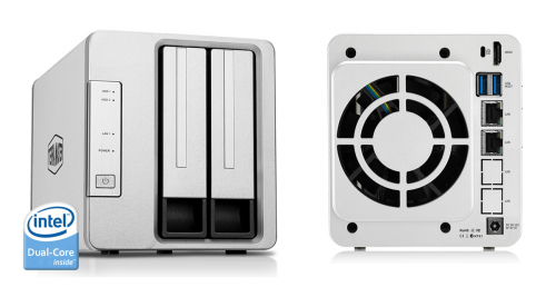 TerraMaster F2-221 NAS 2-Bay cloud storage NAS device.'