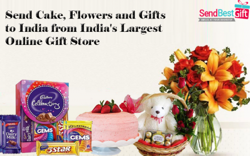 Send Cake, Flowers and Gifts to India from India's Larg'