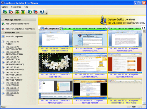 Employee Desktop Live Viewer'