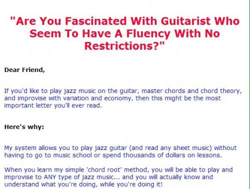 Jazz Guitar Chord System'