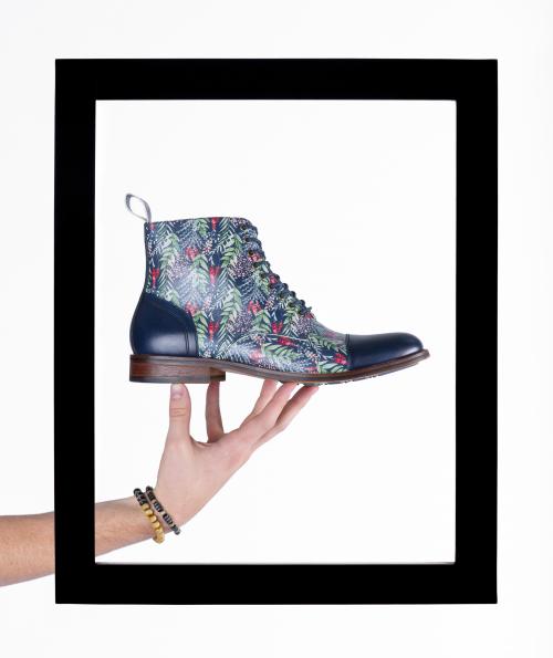 Thatcher Finch patterned leather footwear'