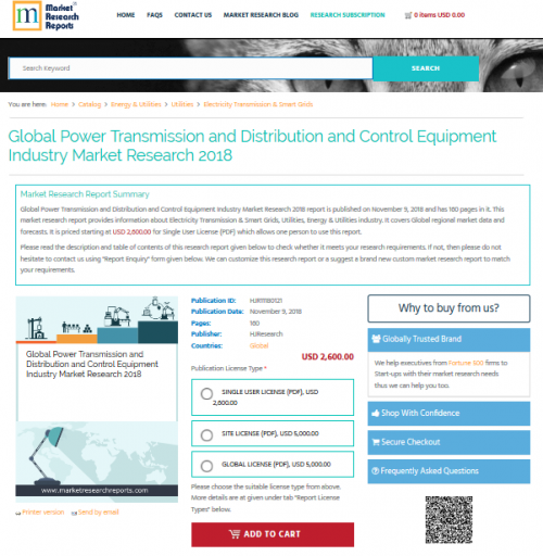 Global Power Transmission and Distribution and Control 2018'