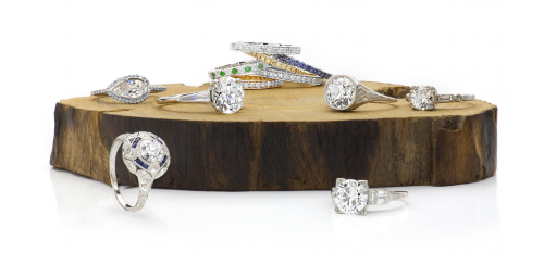 Studio 36 West Jewelry Photography White Diamond Collection'