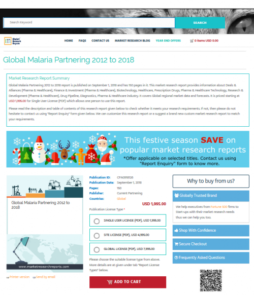 Global Malaria Partnering 2012 to 2018'