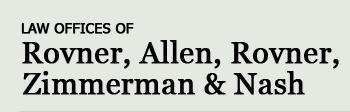 The Law Firm of Rovner, Allen, Rovner, Zimmerman & Nash'